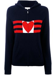 Chinti And Parker Love Heart Hoodie Women Cashmere M Blue