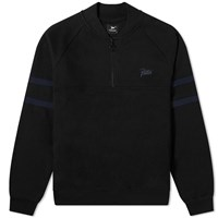 Patta Half Zip Sweat Black