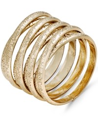 Thalia Sodi Gold Tone Textured Coil Ring Only At Macy's