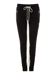 True Religion Striped Relaxed Joggers Black