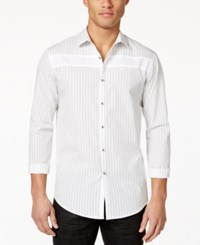 Inc International Concepts Men's Perry Multi Striped Shirt Only At Macy's White