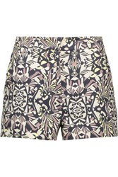 M Missoni Printed Cady Shorts Midnight Blue