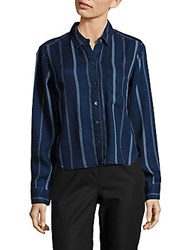 Rails Dana Long Sleeve Striped Shirt Indigo