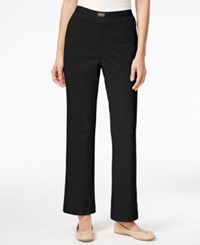Alfred Dunner Petite Madison Park Pull On Pants Black Group