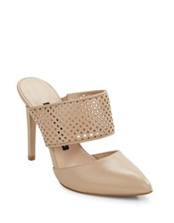 French Connection Mollie Point Toe Mules Almost Nude