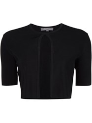 Lela Rose Knitted Bolero Black