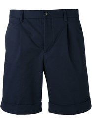 Editions M.R Pleated Shorts Men Cotton 48 Blue