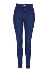 Topshop Tall Blue Joni Jeans Bright Blue