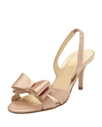 Micah Bow Detail Satin Slingback Pump Rose Petal Pink Kate Spade New York