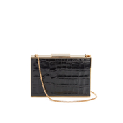 Aspinal Of London Women's Scarlett Box Clutch Bag Black