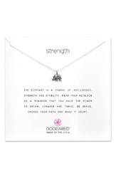 Dogeared Women's Reminder Strength Pendant Necklace Silver