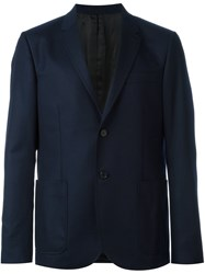 Joseph Patch Pocket Blazer Blue