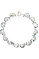 Sophie Buhai Georgia Shell And Silver Necklace