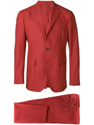 Doppiaa Formal Two Piece Suit Red