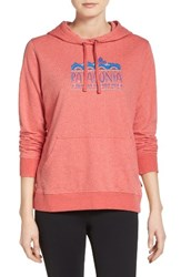 Patagonia Women's Femme Fitz Roy Hoodie Spiced Coral