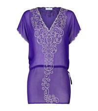 Elizabeth Hurley Beach Florenza Silk Tunic Female Purple