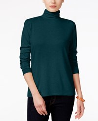 Styleandco. Style Co. Mock Turtleneck Top Only At Macy's New Rustic Teal