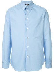 N 21 No21 Long Sleeve Fitted Shirt Blue