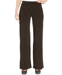 Jm Collection Pull On Wide Leg Pants