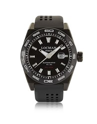 Locman Stealth 300 Mt Analog Display Automatic Self Wind Black Pvd Stainless Steel Titanium And Silicone Men S Watch