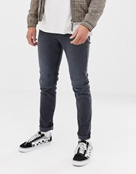 Cheap Monday Slim Tapered Jeans In Grey Blue