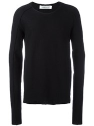 Individual Sentiments Elongated Sleeves Jumper Black