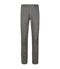 Ted Baker Classy Classic Fit Brushed Trousers Male Grey