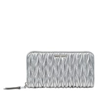 Miu Miu Lampo Wallet In Quilted Leather