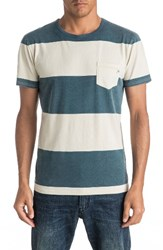 Quiksilver Men's Maxed Out Pocket T Shirt Indian Teal