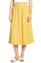 Madewell Women's Side Button Midi Skirt