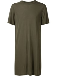 Rick Owens Oversized T Shirt Green
