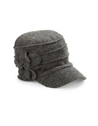 Betmar Ridged Flower Cap Charcoal