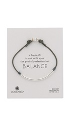 Dogeared Balance Tube Bracelet Silver Pebble