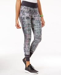 Jessica Simpson The Warm Up Juniors' Printed Yoga Leggings Snow Crystal Grey