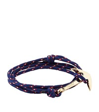 Miansai Rope Wrap Anchor Bracelet Unisex Blue