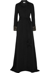 Maiyet Embellished Silk Crepe De Chine Gown Black