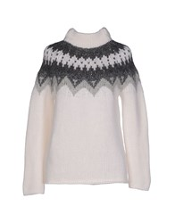 Kangra Cashmere Knitwear Turtlenecks Women White