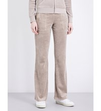 Juicy Couture Del Ray Velour Jogging Bottoms Dried Thyme