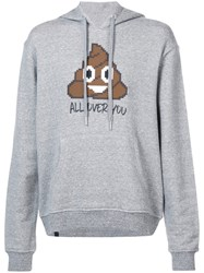 Mostly Heard Rarely Seen All Over You Hoodie Cotton Xl Grey