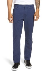 Ag Jeans Everett Microcheck Slim Fit Pants Chambray Blue