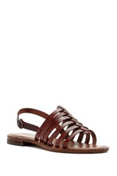 Summit By White Mountain Elanna Genuine Leather Sandal Brown