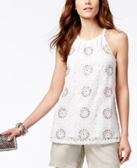 Inc International Concepts Embellished Halter Top Only At Macy's Bright White