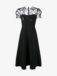 Valentino Sequin Embellished Sheer Dress Black