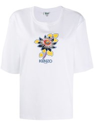 Kenzo Flower Embroidery T Shirt White