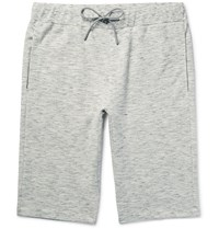 Theory Moris Ma Lange Loopback Cotton Jersey Shorts Light Gray