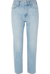 Madewell The Perfect Summer Cropped High Rise Straight Leg Jeans Light Denim Gbp