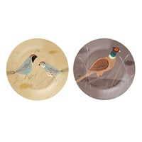 Magpie Game Birdy Dinner Plate Set Of 2 Quail And Pheasant