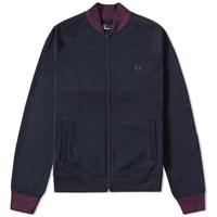 Fred Perry Colour Block Bomber Jacket Blue