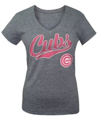5Th And Ocean Girls' Chicago Cubs Script T Shirt