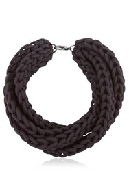 Alienina Altrove Brass And Cotton Braided Necklace